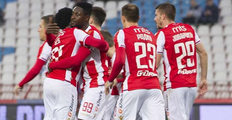 Boakye-Yiadom Scores Brace In Red Star Belgrade Win Over Radnicki Nis