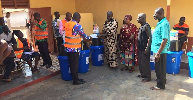 Dormaa East District PHEC Distributes Logistics To Sub-Districts To Fight COVID-19