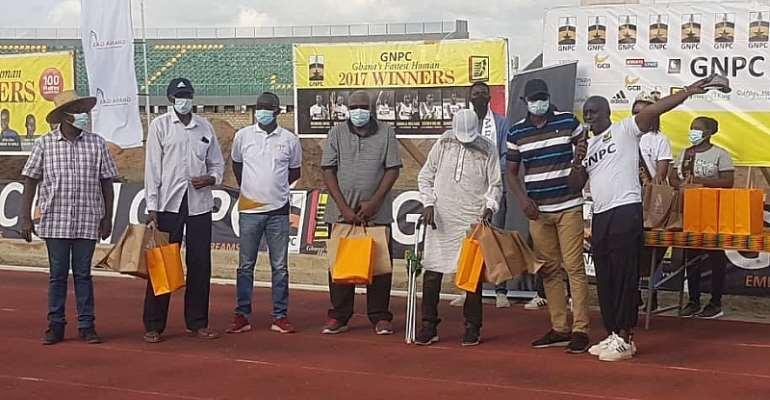 Mike Ahey, Oko Addy and Ohene Karikari honored by Ghana's Fastest Human organizers