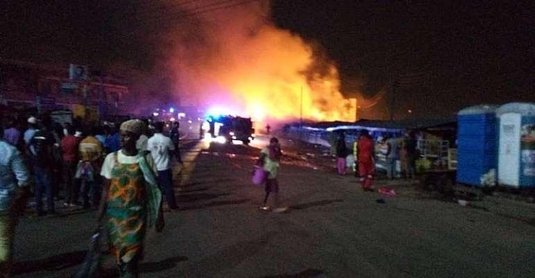 Fire guts latex foam shop in Techiman