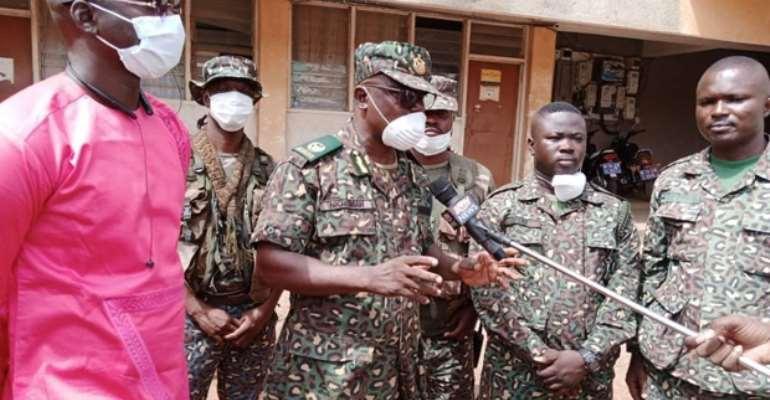 ACI Peter Nkrumah briefing the media