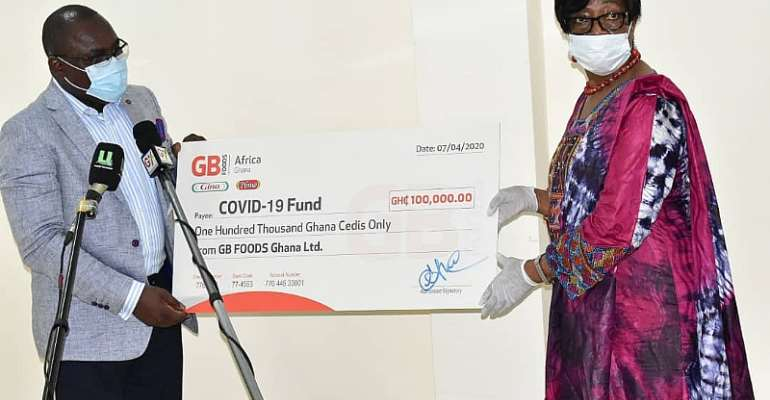 GB Foods Donate GHC100,000 Plus Goods To The COVID 19 Fund