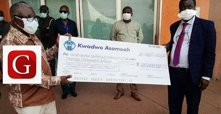 COVID-19: Inter Milan Ace Kwadwo Asamoah Donates $20k To Komfo Anokye Teaching Hospital