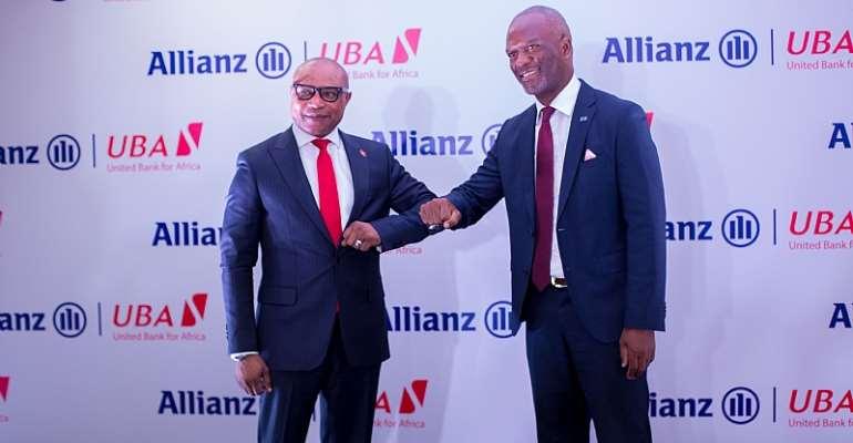 CEO Allianz Insurance Darlington Munhuwani with Olalekan Balogun - Managing Director and Chief Executive Officer of UBA Ghana