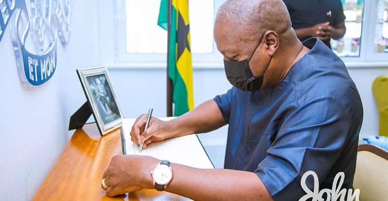 Mahama signs Prince Philip's book of condolence opened at British High Commission