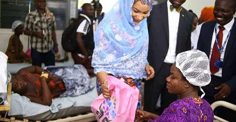 Second Lady Samira Visits Eastern Regional Hospital