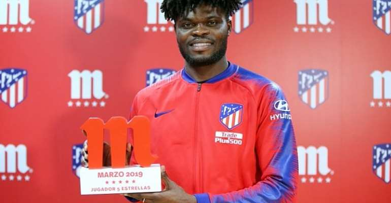 Thomas Partey Named Atletico Madrid Player Of The Month In March [VIDEO]