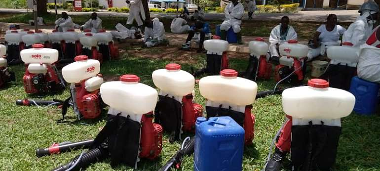 Zoomlion's CSR Disinfection Of Institutions Reaches UCC