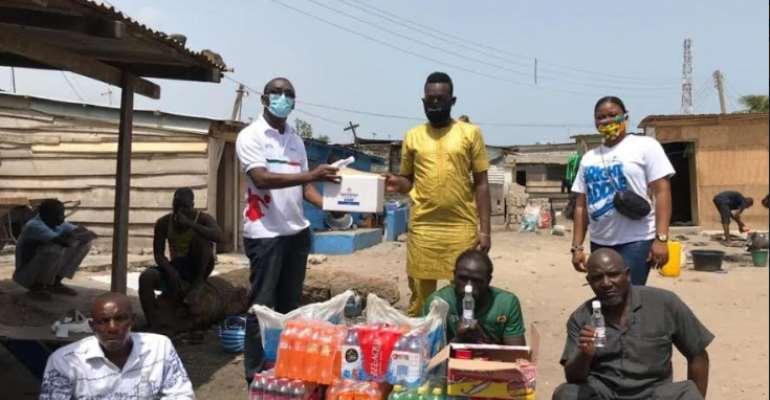 Coronavirus: Bright Addae & Afro-Arab Group Chief Donate To Ghana Skate Soccer Association