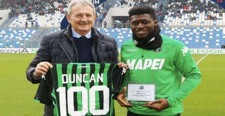 Alfred Duncan Celebrates Century Of Serie A Matches