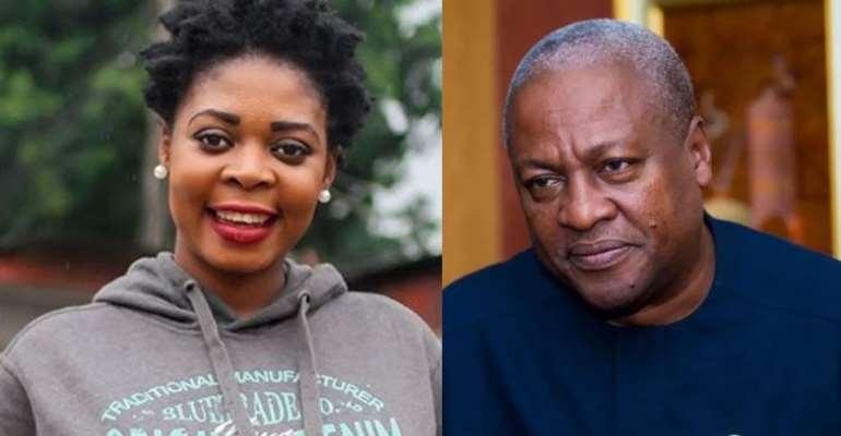 Joyce Dzidzor Mensah and Former President John Mahama