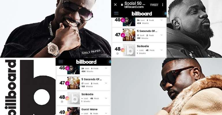 Sarkodie featured On Billboard's Social 50