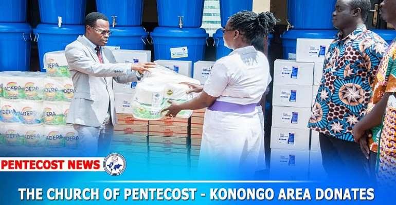 Konongo Pentecost Donates To All 3 Asante Akim Health Directorates