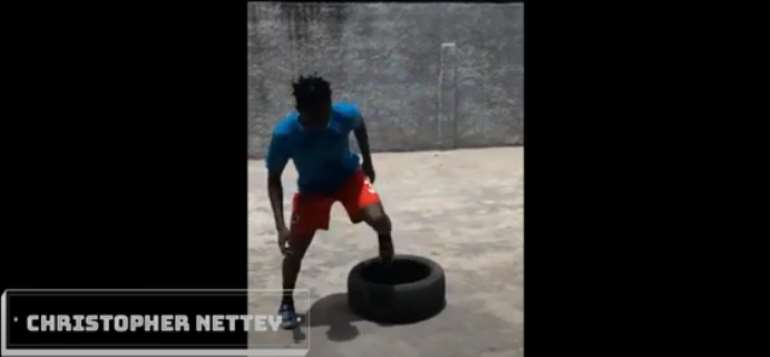 COVID-19: Kotoko Right-Back Christopher Nettey Steps Up Training At Home [VIDEO]