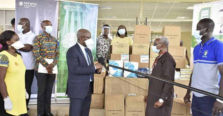 Vivo Energy Donates PPEs To COVID-19 Management Team