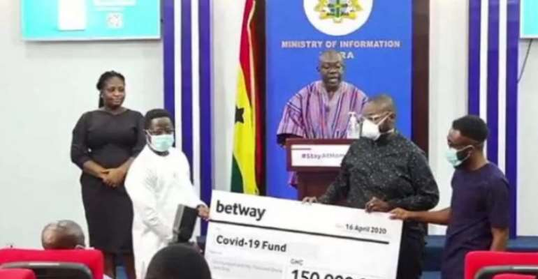 Coronavirus: Betway Ghana Donates GH¢150,000 To Fight Virus