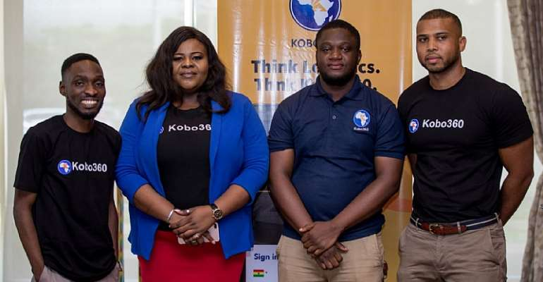 L-R_ Tosin Adesipe (Kobo360, Head of Tech), Enobong Kennedy (Kobo360 Head of Marketing), Elorm Akoto (Kobo360 Operations Manager, Ghana), Bilal Abdullah (Kobo360 COO, West Africa) low res