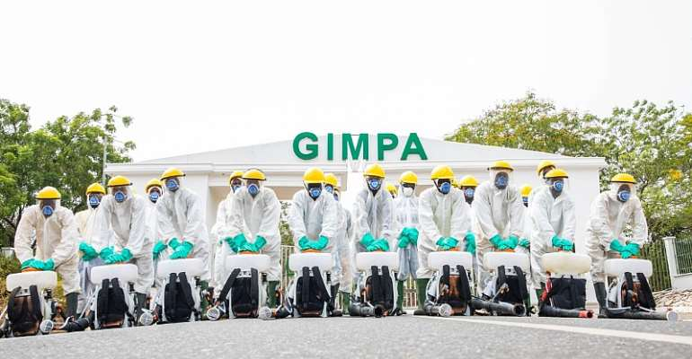 Zoomlion Disinfects GIMPA Campus