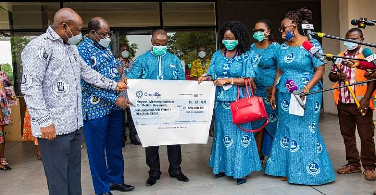 Noguchi Gets US$20,000 From Zoomlion To help Fight COVID-19