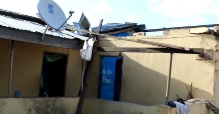 Rainstorm rip off roofs of over 90 buildings in Damango