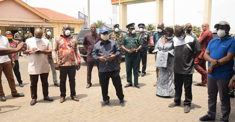 Covid-19: Volta Regional Minister Tours Ketu South, Urge Residents To Observe Safety Measures