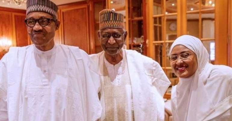 President Buhari, Abba Kyari and Aisha Buhari