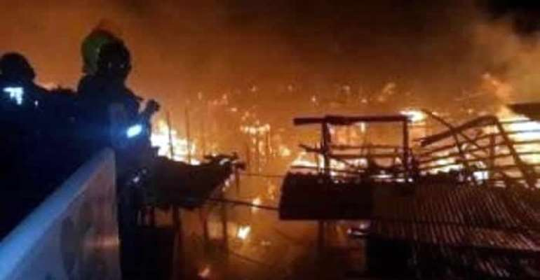 Counting The Losses In Good Friday's Fire At Kumasi Central Market