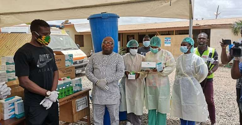 PFAG and GBSA donate essential items to Madina Polyclinic in Accra