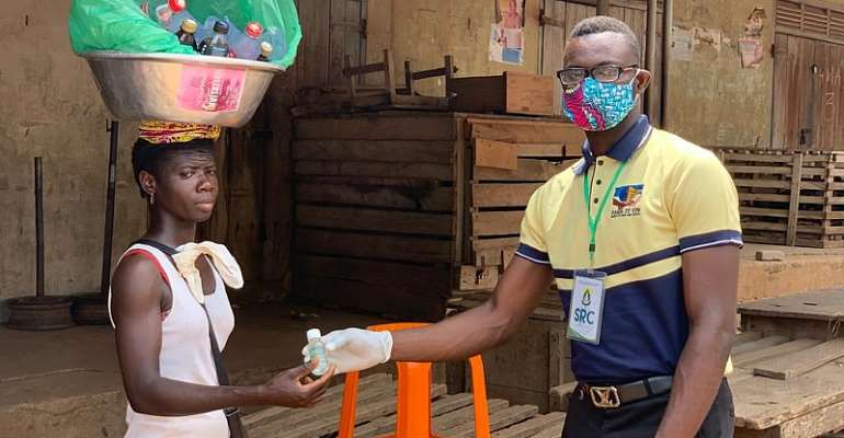 Volta Region: UHAS Students Donate Free Hand Sanitizers, Other Relief Items In Ho