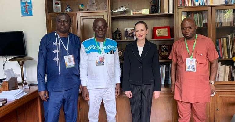 Ahafo Regional Minister pays a courtesy call on two envoys
