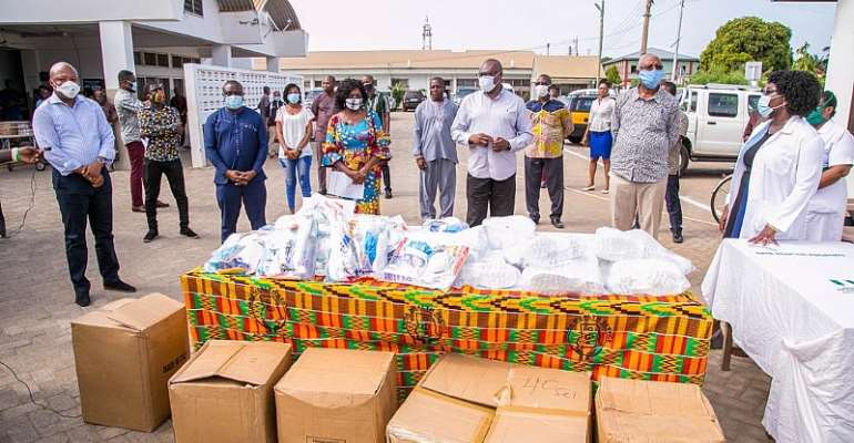 COVID-19: Mahama Donate PPEs To Keta Hospital