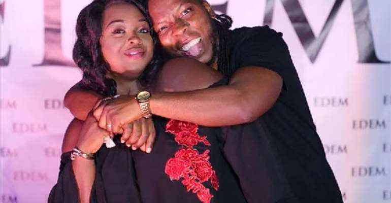 Edem with his wife Stacy Osekere
