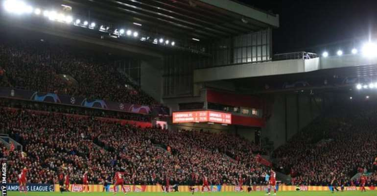 More than 52,000 fans watched as Liverpool lost 3-2 to Atletico Madrid at Anfield on 11 March, a result that sealed the holders' elimination from the competition