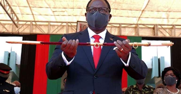Malawi's President Lazarus Chakwera is sworn in in Lilongwe, Malawi, July 6, 2020.