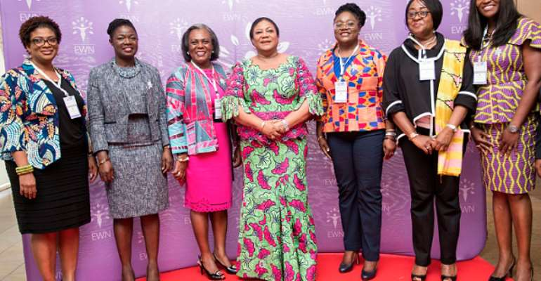 Some Executives of EWN in a pose with Mrs. Rebecca Akufo-Addo