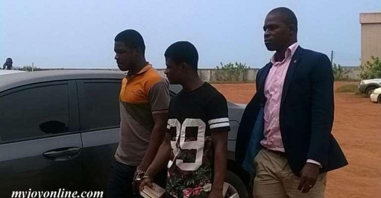 Daniel Asiedu leaving the court
