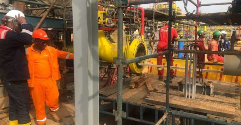 Ghana Gas says completion of the engineering works, will enable transportation of excess domestic gas in the western enclave to the eastern enclave in a reverse mode.