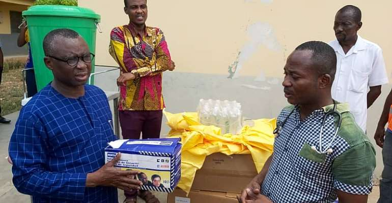 GWCL MD Donates PPEs To Damongo Government Hospital
