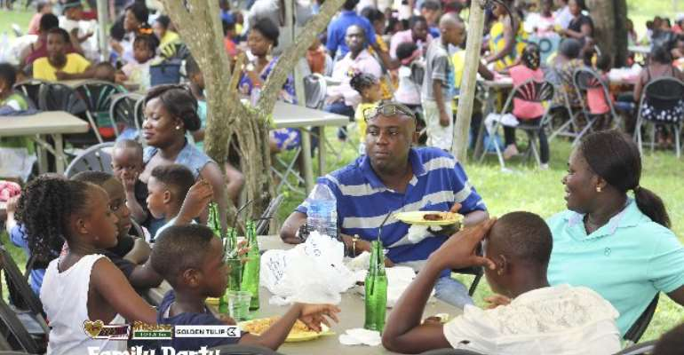 Patrons at Luv FM Family Party in the Park