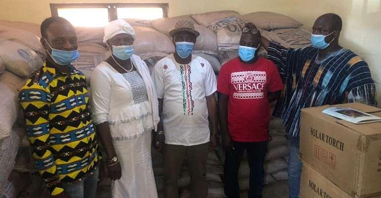 Salaga South MP Hajia Zuwera Ibrahimah supports Muslims with 300 bags of Sugar