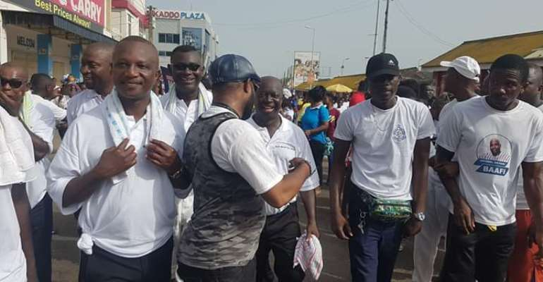 Black Stars Coach Kwesi Appiah Spotted At NPP Health Walk