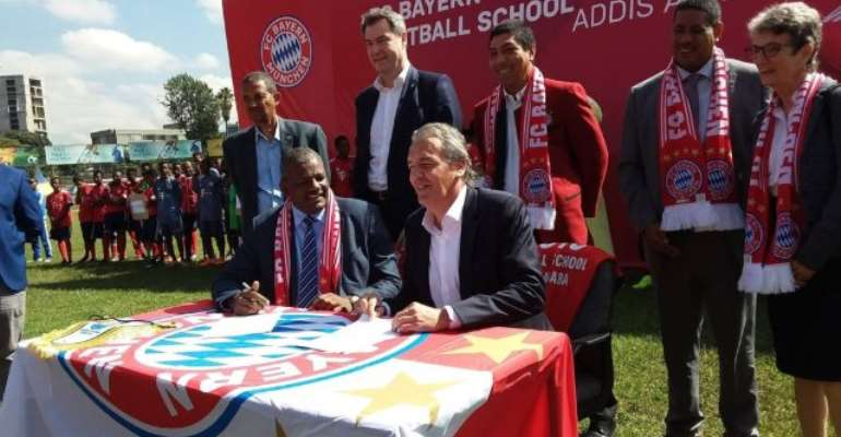 FC Bayern Opens First African Soccer School In Ethiopia
