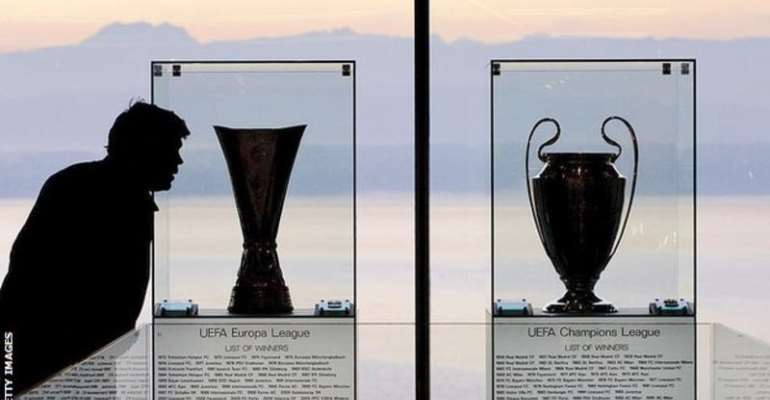 The Champions League final is scheduled to be played in Istanbul and the Europa League showpiece in Gdansk