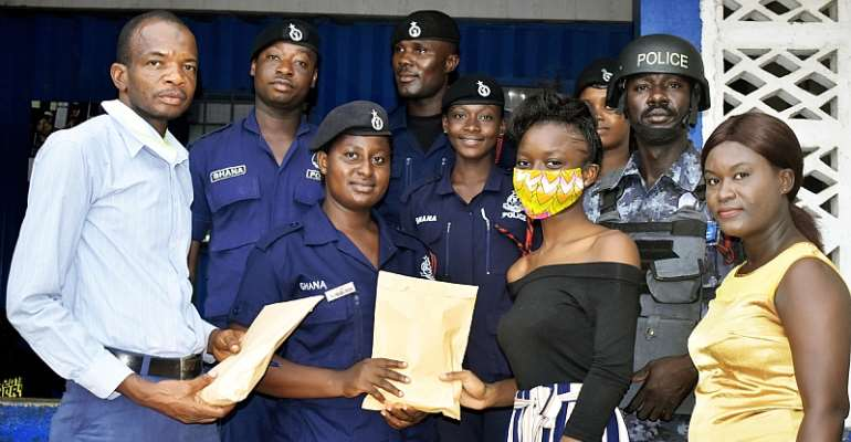Huckleberry Donate Face Masks To Kokrobite District Police