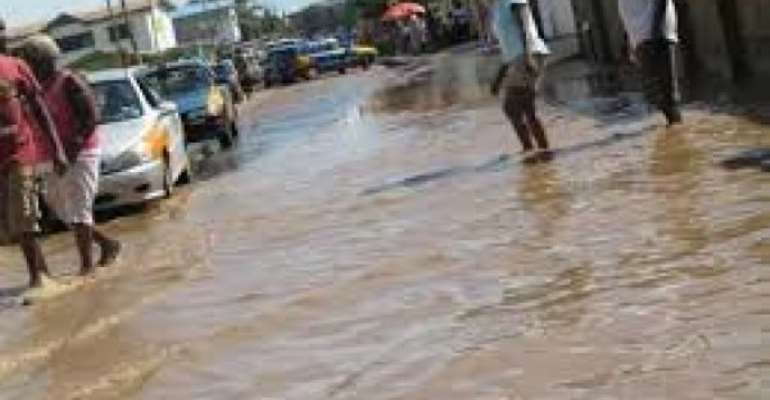 Takoradi: Parts Of Central Business District Flooded After Downpour