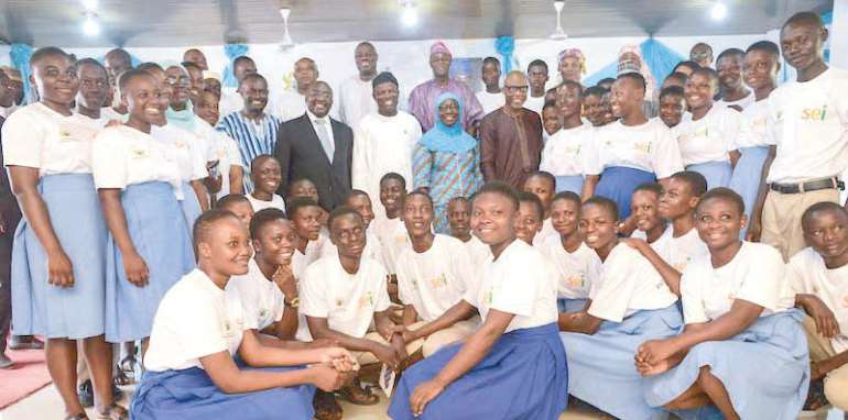 Vice President Bawumia and some students
