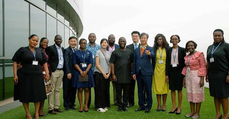 Officials of NPA and Korea Petroleum in a group photograph