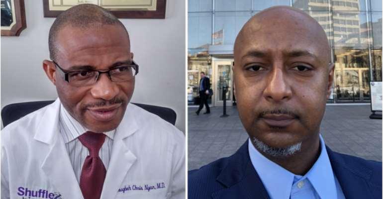 Dr. Dougbeh Chris Nyan, M.D. Of Liberia (Left) And Mr. Yoseph Seyoum Of Ethiopia (Right)