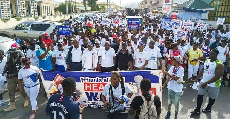 Friends Of Kofi Baafi Hold Health Walk In New Juaben South