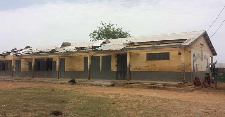 Rainstorm Rip Off Schools Roof In Bolgatanga
